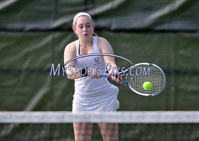5/20/2016 Mike Orazzi | Staff Bristol Eastern's Hannah Langlais during Central vs Eastern tennis match Friday.