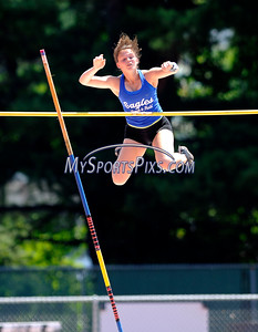 7/16/2016 Mike Orazzi | Staff Amy Zadroga competes in the pole vault during the Nutmeg State Games at Willow Brook Park on Saturday.