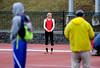 4/2/2016 Mike Orazzi | Staff<br /> University of Hartford's Lauren Bossi in the high jump Saturday at CCSU in New Britain.