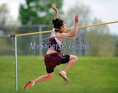 5/17/2016 Mike Orazzi | Staff Bristol Central's Matt Pittman while setting a pole vault record Tuesday during the city meet.