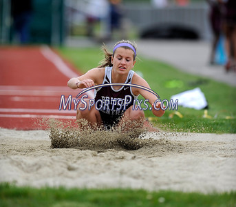 5/17/2016 Mike Orazzi | Staff Bristol Central's Olivia Savino during the city track meet Tuesday.