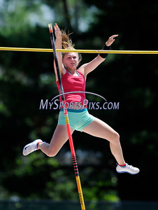 7/16/2016 Mike Orazzi | Staff Katie Segert competes in the pole vault during the Nutmeg State Games at Willow Brook Park on Saturday.