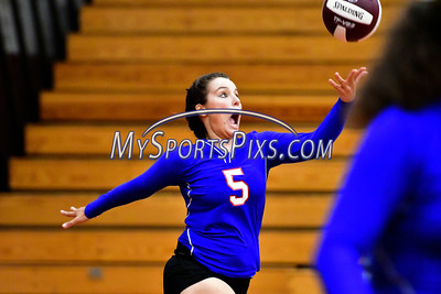 9/20/2016 Mike Orazzi | Staff St. Paul volleyballs' Sophia Penisse (5) at THS Tuesday night.