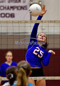 9/20/2016 Mike Orazzi | Staff St. Paul volleyball's Rachel Castertano (25) at THS Tuesday night.