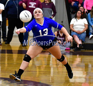 10/26/2016 Mike Orazzi | Staff Bristol Eastern's Jessica Kenney (13) during Wednesday night's volleyball match at Central.