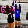 10/26/2016 Mike Orazzi | Staff<br /> Bristol Central's Kathryn Ross (14) and Bristol Eastern's Olivia Beaudoin (4)  during Wednesday night's match at Central.