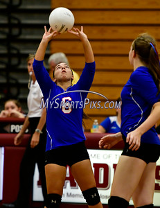 9/20/2016 Mike Orazzi | Staff St. Paul volleyball's Bianca DiLernia (6) at THS Tuesday night.