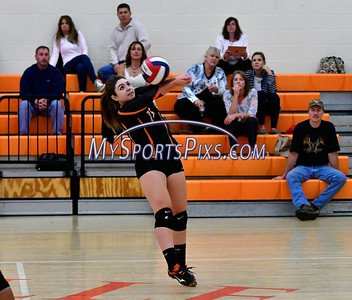 10/4/2016 Mike Orazzi | Staff Terryville volleyball's Alycia Calabrese (15).