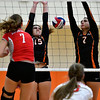 10/4/2016 Mike Orazzi | Staff<br /> Northwestern's Molly Clarke (7) and Terryville's Alycia Calabrese (15) and Martina Trovato (7).