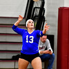 10/26/2016 Mike Orazzi | Staff<br /> Bristol Eastern's Jessica Kenney (13) during Wednesday night's volleyball match at Central.