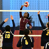 11/3/2016 Mike Orazzi | Staff<br /> Innovation's Kimberly Okeke (5) during the CRAL Volleyball Championship Thursday in New Britain.