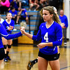 10/19/2016 Mike Orazzi | Staff<br /> Bristol Eastern's Olivia Beaudoin (4) during Wednesday nights volleyball match in Bristol.