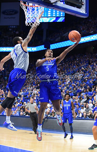 Malik Monk drives strong to the basket on Saturday during the UK Blue-White game.  MARTY CONLEY/ FOR THE DAILY INDEPENDENT