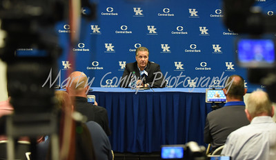 John Calipari addressed the media on Thursday afternoon during media day in Lexington.  MARTY CONLEY/ FOR THE DAILY INDEPENDENT