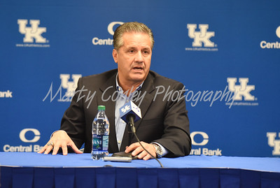 Kentucky head basketball coach, John Calipari talks with media on Thursday during media day.  MARTY CONLEY/ FOR THE DAILY INDEPENDENT