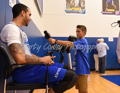 UK's Mychal Mulder answers a young reporters question on Thursday afternoon during media day.  MARTY CONLEY/ FOR THE DAILY INDEPENDENT