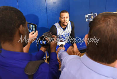 UK's Isaiah Briscoe answers questions from the media on Thursday afternoon.  MARTY CONLEY/ FOR THE DAILY INDEPENDENT