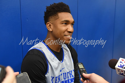 UK freshman, Malik Monk talks with media on Thursday afternoon.  MARTY CONLEY/ FOR THE DAILY INDEPENDENT