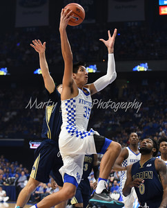 Kentucky's Derek Willis drives to the basket on Sunday evening against Clarion.  MARTY CONLEY/ FOR THE DAILY INDEPENDENT
