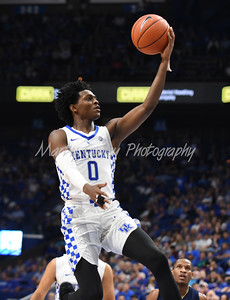 Kentucky's De'Aaron Fox glides to the basket for a layup against Clarion on Sunday evening.  MARTY CONLEY/ FOR THE DAILY INDEPENDENT