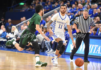 Kentucky's Mychal Mulder brings the ball upcourt against Cleveland State on Wednesday.  MARTY CONLEY/ FOR THE DAILY INDEPENDENT