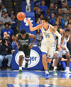 Derek Willis of Kentucky leads the break after a rebound against Cleveland State on Wednesday.  MARTY CONLEY/ FOR THE DAILY INDEPENDENT