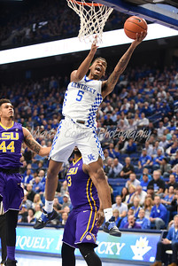 Kentucky's Malik Monk glides to the basket on Tuesday evening against LSU.  MARTY CONLEY/ FOR THE DAILY INDEPENDENT