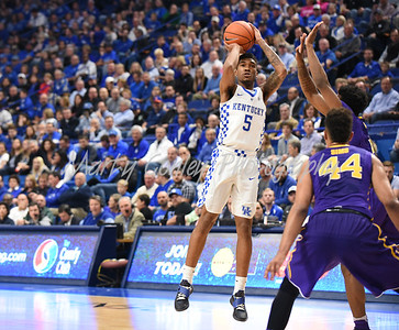 Kentucky's Malik Monk pulls up for the jump shot on Tuesday evening against LSU.  MARTY CONLEY/ FOR THE DAILY INDEPENDENT
