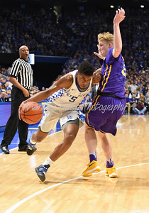 Malik Monk of Kentucky drives to the lane on Tuesday evening against LSU.  MARTY CONLEY/ FOR THE DAILY INDEPENDENT