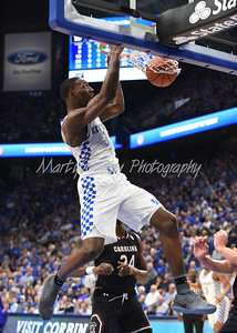 Bam Adebayo of Kentucky dunks the ball against South Carolina on Saturday evening.  MARTY CONLEY/ FOR THE DAILY INDEPENDENT