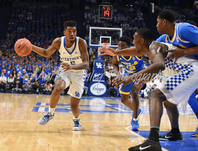 Kentucky's Malik Monk looks for an opening on Saturday against UCLA in Lexington.  MARTY CONLEY/ FOR THE DAILY INDEPENDENT