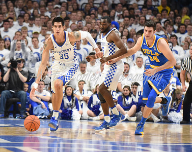 Derek Willis of Kentucky leads a fast break on Saturday against UCLA.  MARTY CONLEY/ FOR THE DAILY INDEPENDENT