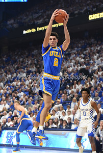 UCLA's Lonzo Ball pulls down a rebound on Saturday afternoon against Kentucky.  MARTY CONLEY/ FOR THE DAILY INDEPENDENT