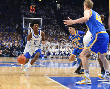 De'Aaron Fox of Kentucky drives to the paint on Saturday against UCLA.  MARTY CONLEY/ FOR THE DAILY INDEPENDENT