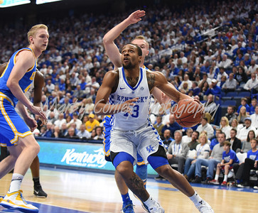 Isaiah Briscoe of Kentucky looks up for the basket on Saturday against UCLA at Rupp Arena in Lexington. MARTY CONLEY/ FOR THE DAILY INDEPENDENT