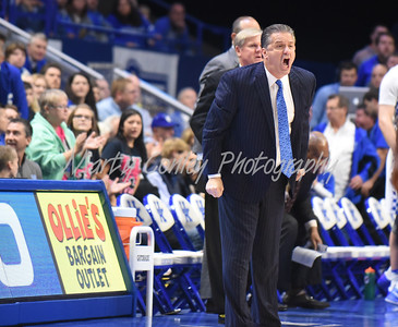 Kentucky head coach, John Calipari yells instruction to the Wildcats on Friday against UT-Martin.  MARTY CONLEY/ FOR THE DAILY INDEPENDENT