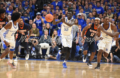 Wenyen Gabriel of Kentucky passes the ball forward on a fast break against UT-Martin on Friday.  MARTY CONLEY/ FOR THE DAILY INDEPENDENT