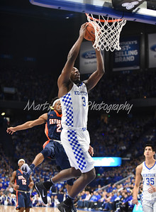 Bam Adebayo of Kentucky dunks against UT-Martin on Friday evening.  MARTY CONLEY/ FOR THE DAILY INDEPENDENT