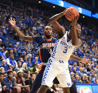 UK's Bam Adebayo secures the ball against UT-Martin's Kedar Edwards on Friday evening in Rupp Arena.  MARTY CONLEY/ FOR THE DAILY INDEPENDENT