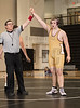Varsity High School Wrestling. Ithaca Lil Red at Corning Hawks. December 14, 2016.
