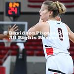 NCAA WOMENS BASKETBALL:  JAN 18 George Washington at Davidson