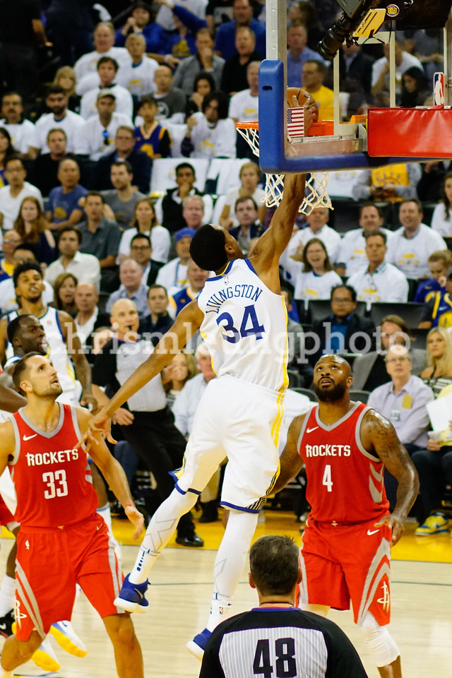 10/17/17: Golden State Warriors vs Houston Rockets at Oracle Arena in Oakland, Ca by Chris M. Leung