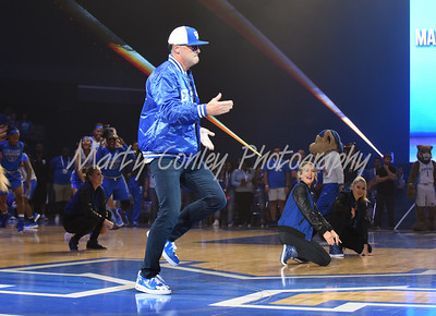 Kentucky Women's basketball head coach, Matthew Mitchell dances during Big Blue Madness on Friday evening in Lexington.  MARTY CONLEY/ FOR THE DAILY INDEPENDENT