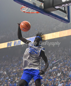 Wenyen Gabriel of Kentucky dunks on Friday evening during Big Blue Madness in Lexington.  MARTY CONLEY/ FOR THE DAILY INDEPENDENT