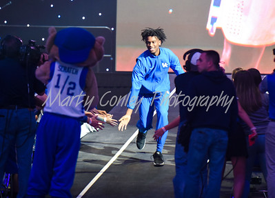 Kentucky's Shai Gilgeous-Alexander makes his entrance on Friday during Big Blue Madness in Lexington.  MARTY CONLEY/ FOR THE DAILY INDEPENDENT
