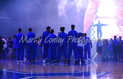 PJ Washington of Kentucky makes his entrance during Big Blue Madness on Friday evening.  MARTY CONLEY/ FOR THE DAILY INDEPENDENT