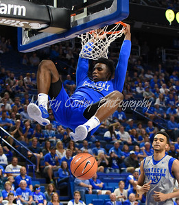 Kentucky's Hamidou Diallo throws down a dunk on Friday during UK's Blue- White game in Lexington.  MARTY CONLEY/ FOR THE DAILY INDEPENDENT