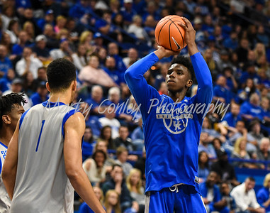Kentucky's Hamidou Diallo shoots the ball on Friday evening during the Blue- White game in Lexington.  MARTY CONLEY/ FOR THE DAILY INDEPENDENT
