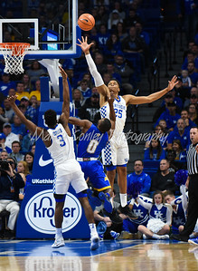 Kentucky's PJ Washington leaps in an attempt to block a shot on Monday against Morehead.  MARTY CONLEY/ FOR THE DAILY INDEPENDENT