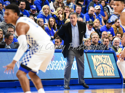 Kentucky head coach, John Calipari watches his team on Monday evening against Morehead State.  MARTY CONLEY/ FOR THE DAILY INDEPENDENT